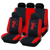 11pcs Set Gecko Embroidery Universal Polyester Automotive Seat Covers Fit Most Vehicles
