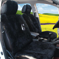 1Piece Front Car Seat Covers Faux Fur Interior Cushion Styling Winter Plush Pad