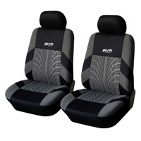 4pcs Classic Man Polyester Fabric Universal Automotive Seat Covers Tread Patterns Interior