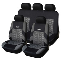9pcs Classic Man Polyester Fabric Universal Car Seat Covers Tread Patterns Protector Interior