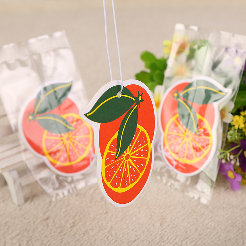 Fruits Automobile Ornaments Hanging Air Freshener Paper Solid Car Scent Slip
