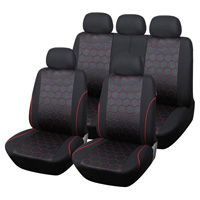 Hot Sales Soccer Ball Car Seat Cover Man Jacquard Fabric SUV Truck Accessories - Red Black