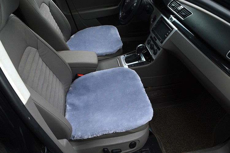 Top Quality Plush Automotive Front Seat Pad Faux Fur Interior Cushion Cover Winter Mat