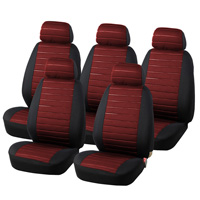 Universal 15pcs Van Auto Seat Covers Airbag 5MM Foam Checkered Fit Most Vans Minibus