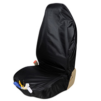 Universal Disposable Front Automotive Seat Covers Waterproof Repaired Trucks Protector - Black