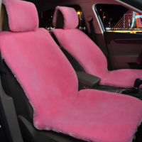 Universal Full Set Automobile Wool Plush Seat Cover Thicken Cushion Front Rear Pad Mats