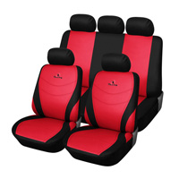 Universal Man 9pcs Polyester Fabric Racing Embroidery Auto Front & Rear Seat Covers
