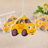 Vehicle Truck Ornaments Hanging Air Freshener Paper Solid Car Scent Slip