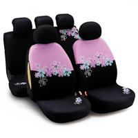 Women Flower Embroidered Polyester Car Seat Cover Universal Fit Most Vehicles Interior