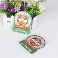 Yummy Bowl Restaurant Auto Ornaments Hanging Air Freshener Paper Car Solid Perfume