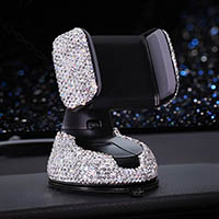 Bling Crystal Car Phone Holder Magnetic Air Vent Mount Mobile Stand Magnet Support Cell GPS