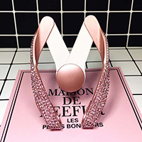 M Shape Universal Car Mobile Phone Holder Crystal Rhinestone Air Vent Mount Clip Stand GPS