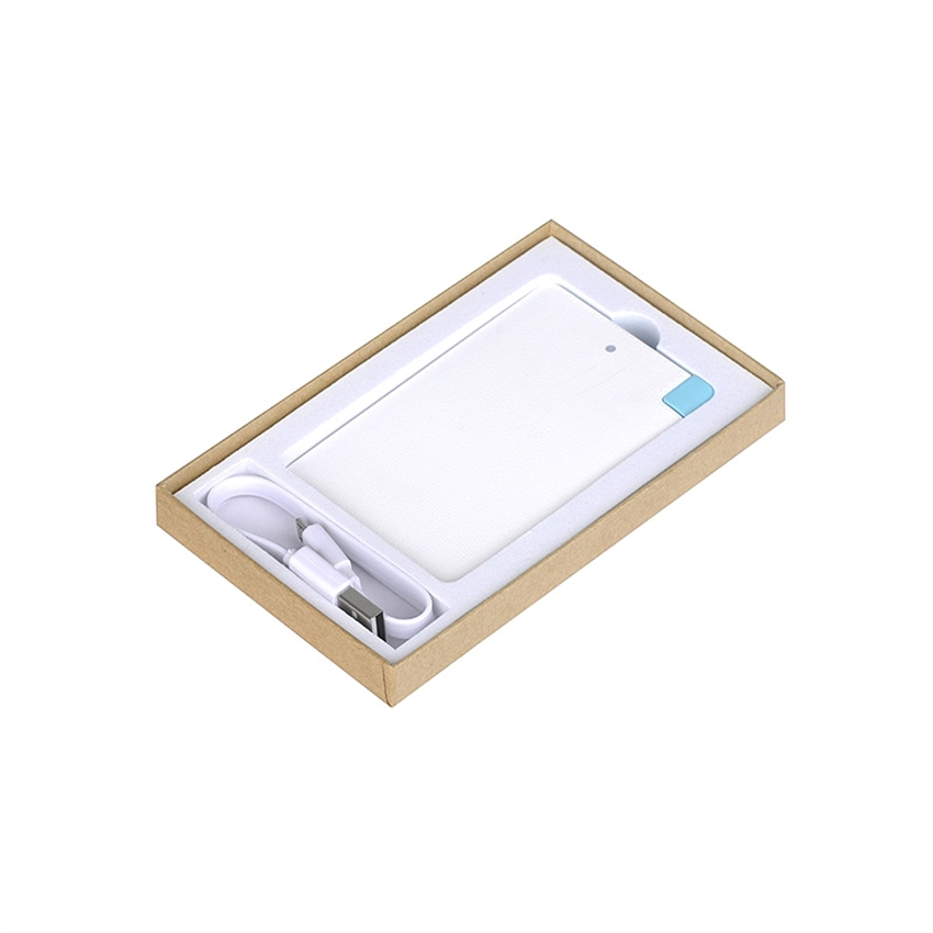 OEM/ODM AF-0210 2500mAh Metal Slim Portable USB Port Charging Power Bank For Smart Phone