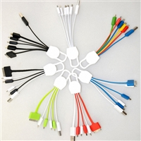 OEM/ODM AF-501 USB Charging Cable for Mobile Phone MFI Keychain 6 in 1 Micro Multi Mini