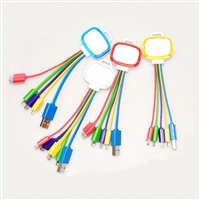 OEM/ODM AF-501FG MFI LED Charging Cable for Cell Phone Keychain 5 in 1 Micro Multi Mini USB