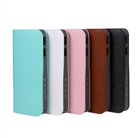OEM/ODM AF-515 QC2.0 13000mAh External Battery Ultra-thin Dual Output Skin Texture