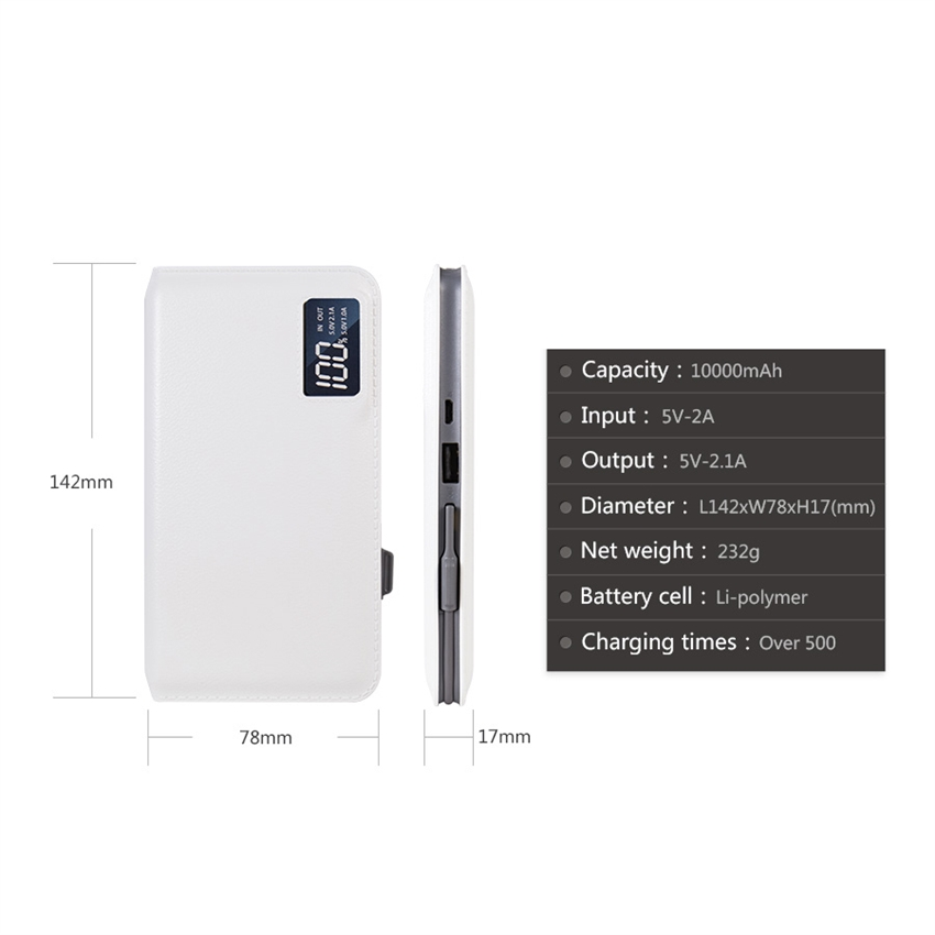 OEM/ODM AF-928 LCD Display 10000mAh Power Bank Portable Fast Charger Portable Source