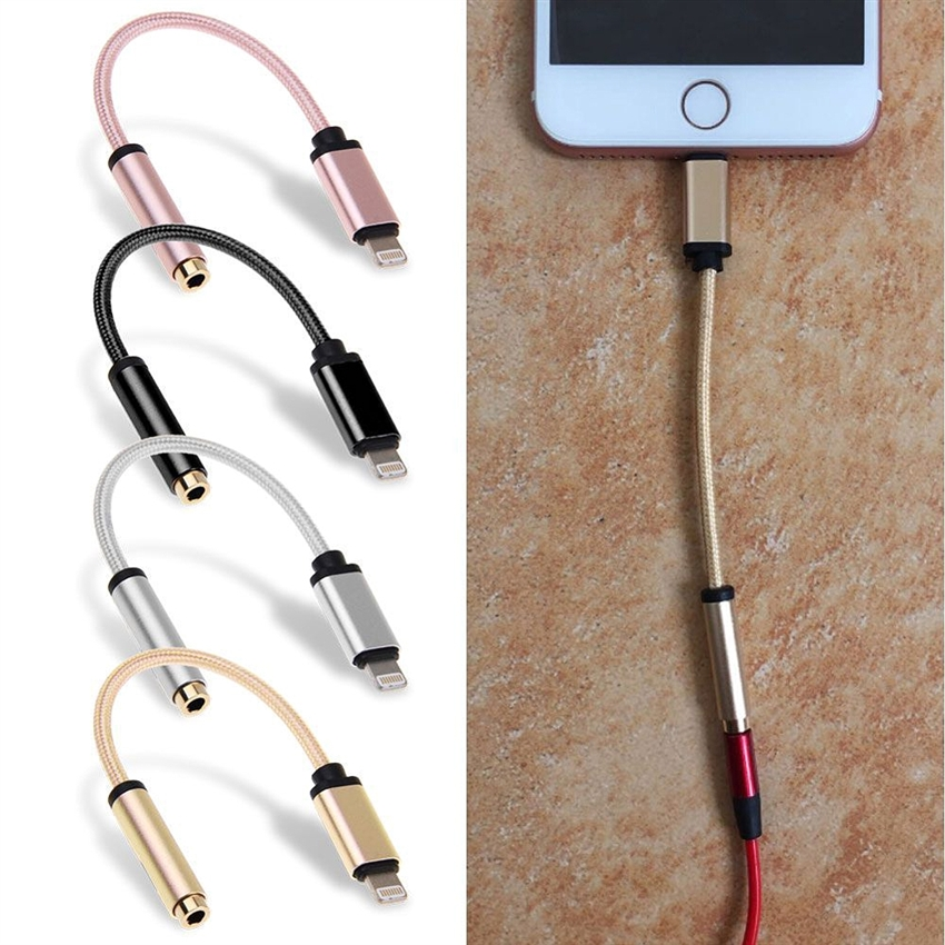 OEM/ODM AF-A07 3.5mm Lightning Digital Audio iPhone 8 Adapter Plastic Cables For iPhone 8 Plus