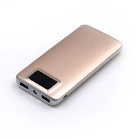 OEM/ODM AF-PB10 Dual USB LED Screen Polymer External Battery 10000mAh Portable ABS PMMA Charging