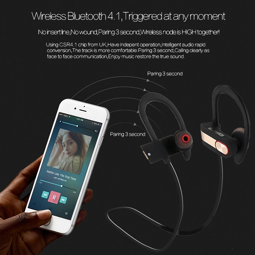 OEM/ODM AF-Q7 HiFi Wireless Waterproof Good iPhone 8 Headphones Bluetooth 4.1 For iPhone 8 Plus