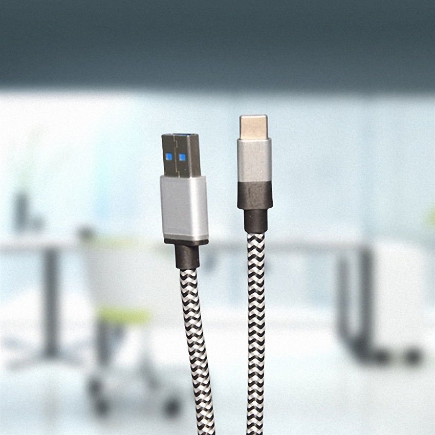 OEM/ODM AF-TC101 USB3.0 Type-C Data Cable 4A 3GB Nylon 0.08 Copper Wire Charger Cables 100CM