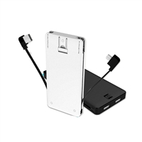 OEM/ODM AF-UL085 Built-in Cable UL Power Bank 5000mAh Charging Li-polymer Battery Charger